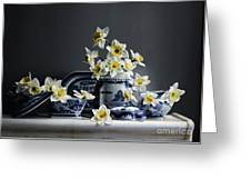 Canton With Daffodils Greeting Card