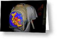 Canvas Back Pack Greeting Card