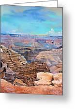 Canyon Blues Greeting Card