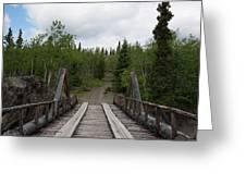 Canyon Creek Bridge Greeting Card