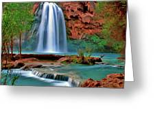 Canyon Falls Greeting Card by Scott Mahon