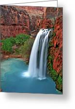 Canyon Falls Vertical Greeting Card