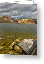 Canyon Lake Stormy Sky Greeting Card