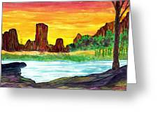 Canyon Of The Mist Greeting Card