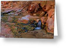 Canyon Reflections 2 Greeting Card