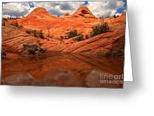 Canyon Reflections At Yant Flat Greeting Card
