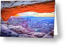 Canyon Reflections Greeting Card