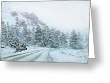 Canyon Snow Greeting Card