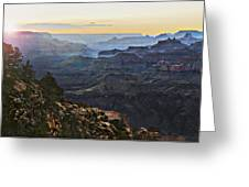 Canyon Sundown Greeting Card