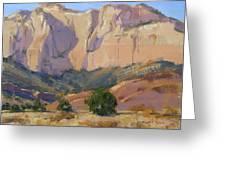 Canyon Walls Of Zion National Park Greeting Card