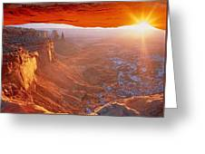Canyonlands Cavern At Sunset Greeting Card