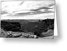 Canyonlands National Park Utah Pan 06 Bw Greeting Card