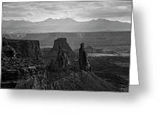 Canyonlands Np IIi Bw Greeting Card