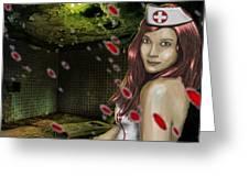 Caotic Nurse Greeting Card