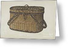 Cap Basket Greeting Card