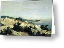 Cape Ai-todor Crimea 1879 21h33 5 Ivan Ivanovich Shishkin Greeting Card