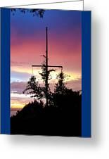 Cape Ann Sunset Silhouettes Greeting Card