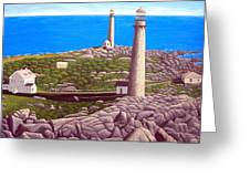 Cape Ann Twin Towers Greeting Card
