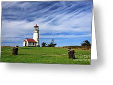 Cape Blanco Lighthouse Above The Rope Greeting Card