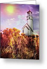 Cape Blanco Lighthouse In Oregon Greeting Card