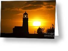 Cape Blanco Lighthouse Sunset 2 Greeting Card