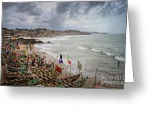 Cape Coast Fishing Village Greeting Card