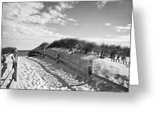 Cape Cod Beach Entry Greeting Card