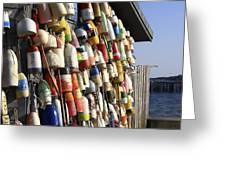 Cape Cod Buoys Greeting Card