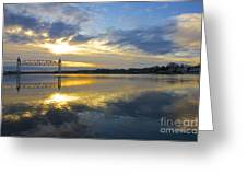 Cape Cod Canal Sunrise Greeting Card