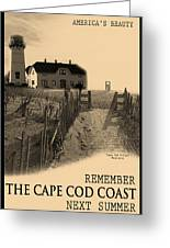Cape Cod Coast Poster Greeting Card by Dapixara Art