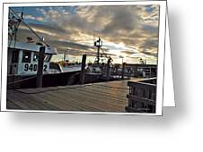 Cape Cod Harbor Greeting Card