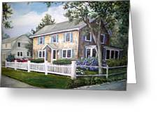 Cape Cod House Painting Greeting Card