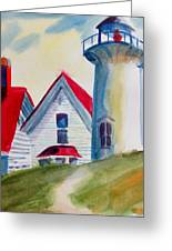 Cape Cod Light House Greeting Card