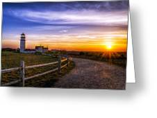 Cape Cod Light Greeting Card by Mark Papke