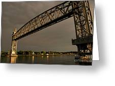 Cape Cod Train Bridge Greeting Card