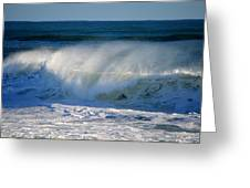 Cape Cod Winter Breakers Greeting Card