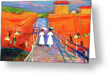 Cape Code Pier Greeting Card