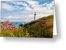 Cape Elizabeth Maine - Portland Head Lighthouse Greeting Card
