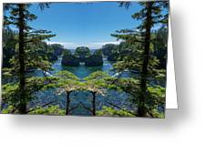 Cape Flattery Reflection Greeting Card