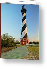 Cape Hatteras Lighthouse In Morning  Greeting Card