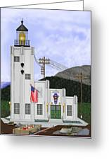 Cape Hinchinbrook Lighthouse In Alaska Greeting Card by Anne Norskog