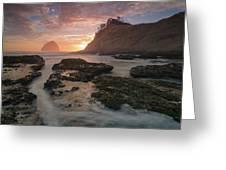 Cape Kiwanda At Sunset Greeting Card