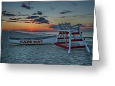 Cape May At Sunrise - Cape May New Jersey Greeting Card