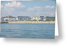 Cape May Beach Scene Greeting Card