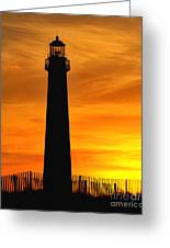 Cape May Light Sunset Greeting Card
