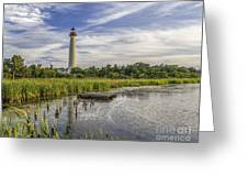 Cape May Lighthouse From The Pond Greeting Card