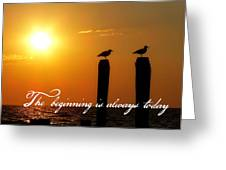 Cape May Morning Quote Greeting Card