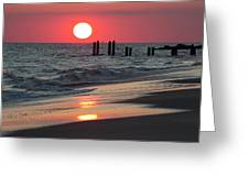 Cape May Nj Sunset, Philadelphia Beach Greeting Card