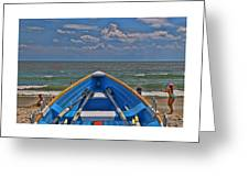 Cape May N J Rescue Boat 2 Greeting Card