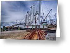 Cape May Scallop Fishing Boat Greeting Card